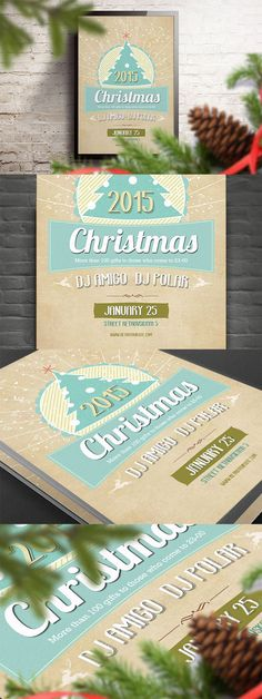 Retro Christmas Flyer » Free Special GFX Posts Vectors AEP Projects PSD Web Templates