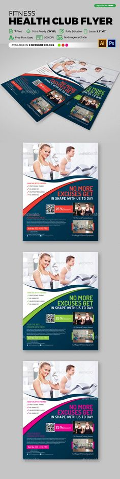 Fitness Flyer Flyer template, Template and Brochures - gym brochure templates