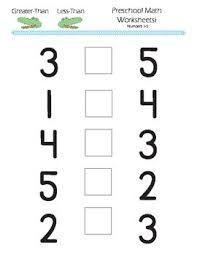 Ficha para incluir el signo de mayor o menor. Ejercicio de números ...