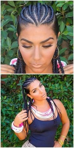 Beautiful Braids On At Gabriellaelena By At Thebraidder Her Makeup