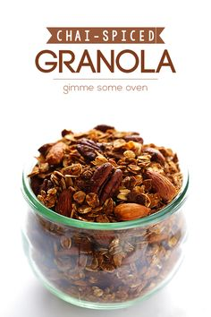 Chai-Spiced Granola -- naturally-sweetened, easy-to-make granola that tastes just like chai! | gimmesomeoven.com #breakfast