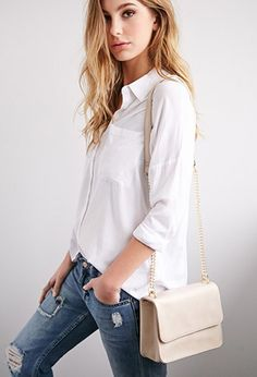 Structured Flap-Top Crossbody | Forever 21 - 1000184187