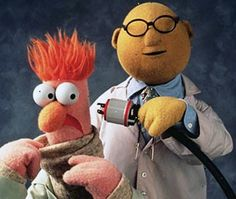 Mythbusters - The Early Years A photo of the Muppets, Beaker and Doctor Bunsen experimenting. Jim Henson, Starwars, Living Puppets, Die Muppets, Beaker Muppets, Foto Fun, Comedy, Fraggle Rock, The Muppet Show