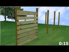 How to build a horizontal fence without a lot of effort?