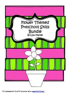 This preschool skills bundle includes: A mini book of traceable color words with flower pictures to color accordinglyA mini book of traceable numbers 1-10A matching game with the option of all uppercase letters or uppercase letters to lowercase lettersBonus!
