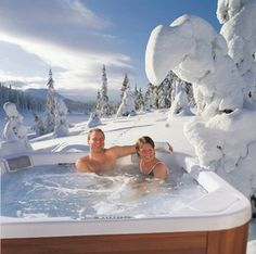 one of the BEST parts of winter... the hot tub, in the snow!!!