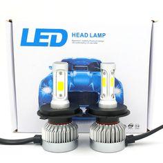 CREE COB H4 HB2 9003 1020W 153000LM LED Headlight Kit Hi//Lo Power Bulbs 6000K