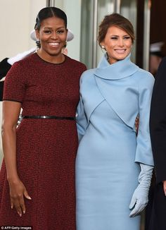Michelle Obama leaving & Melania Trump coming to the White House