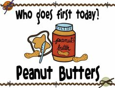 The Peanut Butters and the Jellys- great way to separate for cooperative learning