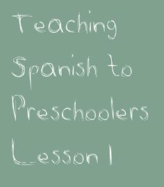 This is the second installment in a series of posts that lay out the lesson plans I developed for a preschool Spanish class. The first lesson can be found here, and I recommend you read it first or. Preschool Spanish Lessons, Spanish Lesson Plans, Spanish Activities, Preschool Curriculum, Homeschooling, Preschool Ideas, Kid Activities, Preschool Prep, Kindergarten Activities
