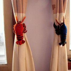 lobster curtain tie backs #JoesCrabShack