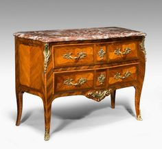 "Louis XV Bombe Kingwood Commode Ca1750	 France. 36""H x 48""W x 22""D."