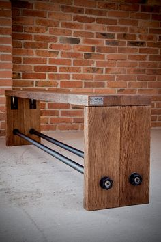 Vintage Industrial Oak bench by KORNIK on Etsy
