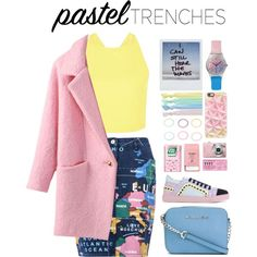 pastel by luizajarosa on Polyvore featuring Love Moschino, Sophia Webster, MICHAEL Michael Kors, May28th, Casetify, Ribband, Accessorize and Pier 1 Imports
