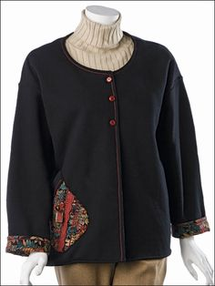 Sewing - Apparel Patterns - Sweatshirt Jacket Patterns - Swing on By