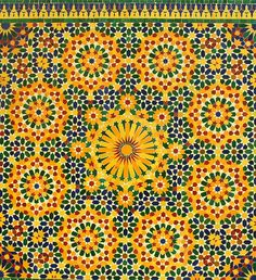 An intricate and Colorful mosaic design from Morocco Moroccan Art, Moroccan Design, Arabesque, Textures Patterns, Print Patterns, Islamic Art Pattern, Moroccan Pattern, Style Tile, Mosaic Patterns