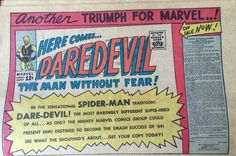 One of many announcements of Daredevil-April 1964