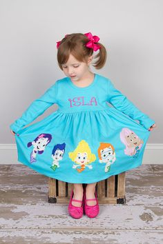 Get the tank top one not the blue one in the picture. Bubble Guppies Dress Birthday Dress by KateandLulus on Etsy, $59.99