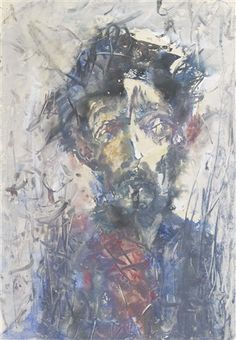 SELF PORTRAIT, Anatoly Zverev (1931-1986), a member of the non-conformist movement and a founder of Russian Expressionism in the 1960's
