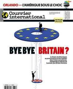 The Brexit illustration for Die Zeit is now the new cover for Courrier international © Ivan Canu #editorial #cover #brexit #politics #financial