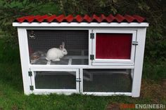 Free and easy DIY rabbit hutch plans that will show you just how to build a rabbit hutch with run that will not only look great but will be functional too!