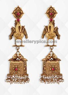 gold jhumka buttalu by jagadish jewellers ~ Gold Jewellery Designs