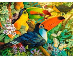 David Galchutt interlude Original Fine Art Oil Painting 16 x 20 Artist Canvas, Canvas Art, Motifs Animal, Rug Hooking Patterns, Illustrations, Bird Art, In Kindergarten, American Artists, Pet Birds