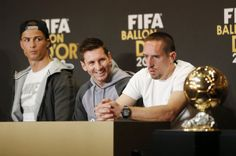 El trío de aspirantes al balón de oro 2013