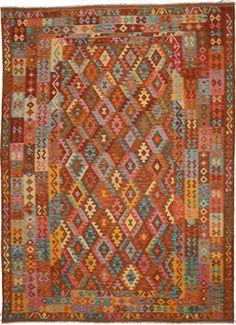 Kelim Afghan Old style Teppich 258x353