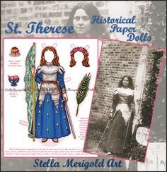 St. Therese dressed as St. Joan of Arc... as a paper doll! This set is so awesome!