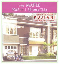 Rumah contoh di Galaxy Bekasi dengan tipe Maple. Ukuran rumah 10 x 15 meter dengan 5 kamar tidur terdiri dari 2 lantai bertingkat.