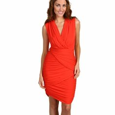 Nwt Bcbgmaxazria Pink Red Sheath Cocktail Dress M