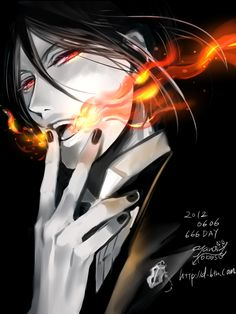 For fans of Sebastian Michaelis, One hell of a butler, from Kuroshitsuji(Black Butler) Black Butler Sebastian, Black Butler Anime, Black Butler 3, Manga Anime, Anime Guys, Anime Art, Hot Anime, Ciel Phantomhive, Book Of Circus