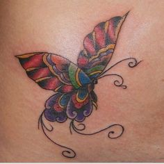 Colorful Butterfly Tattoo Designs | Colorful Large Winged Butterfly Tattoo Design