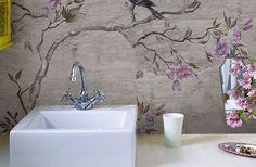 Un bagno incantato con la carta da parati WetSystem di Wall&Deco! #bathroom #wallpaper #special #wetsystem #wallanddeco