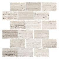 Legno Medley Amalfi Travertine Mosaic Floor Tile - 12 x 12 in. $15.99 Sq Ft      Coverage 10.01 Sq Ft per  Box