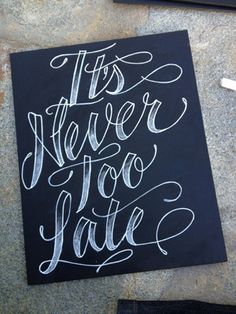 Shaded italic chalk lettering