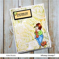 **NEW Fern Background Rubber Cling Stamp | Whimsy Stamps Whimsy Stamps, Friendship Cards, Ferns, I Card, Design, Friend E Cards, Fern, Design Comics