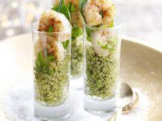Pittige quinoa met scampi's