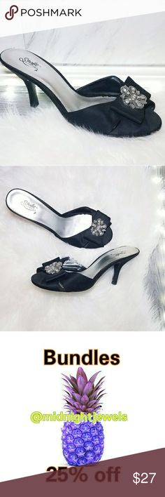Pumps Sandles Size 11 11W Black Silver Shoes Hotter than ever this season! A dose of chicness to your everyday wardrobe. Comfortable go with just about everything. Super easy to dress them up or down. Absolutely stunning   . Size 11W  . Condition Good  . Color Black Silver  . Bundle & SAVE 25% off 🍍  . Reasonable offers welcome😃  No additional shipping charge when you purchase more from my closet   Every purchase will be packed with Care & a Special FREE GIFT 🎁   🍍 25% OFF on bundles…