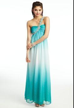 Ombre Glitter One Shoulder dress