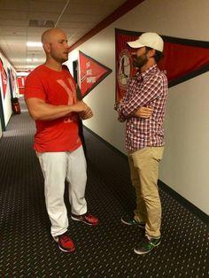 Matt Holliday and Jon Hamm