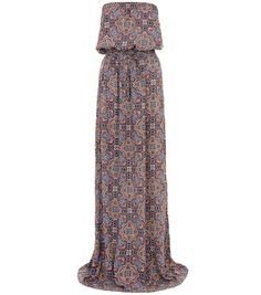Tall Blue Paisley Print Bandeau Maxi Dress - I've been looking for a beautiful maxi dress that is long enough for AGES, and now I've finally found one.