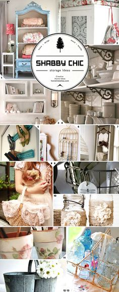 Organizing in Style: Shabby Chic Storage Ideas