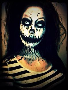 Jack Skellington inspired makeup. Artist: Jacquie Lantern www.jacquielantern.com The Nightmare Before Christmas, halloween