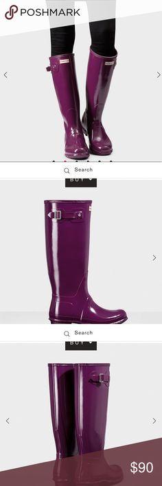 Hunter Original Tall Gloss Rain boots Hunter original tall gloss rain boots in Dark Ruby. Size 6 Hunter Boots Shoes Winter & Rain Boots