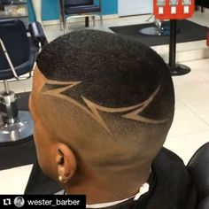 Sharp design by NBAhaircuts approved barber Haircut Designs For Men, Hair Designs For Boys, Haare Tattoo Designs, Short Hair Cuts, Short Hair Styles, Shaved Hair Designs, Black Men Haircuts, Hair Tattoos, Fade Haircut