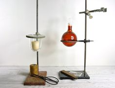 Vintage Industrial Laboratory Stand / Lab Metal by havenvintage