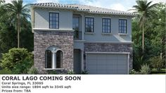 PARADISE LUXURY PROPERTIES: CORAL LAGO NEW HOMES FOR SALE IN CORAL SPRINGS