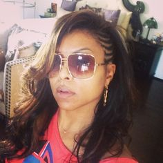 Taraji P. Henson side conrows hairstyle | thirstyroots.com: Black Hairstyles and Hair Care
